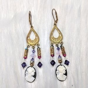 Jewelry - Cameo Chandelier Earrings